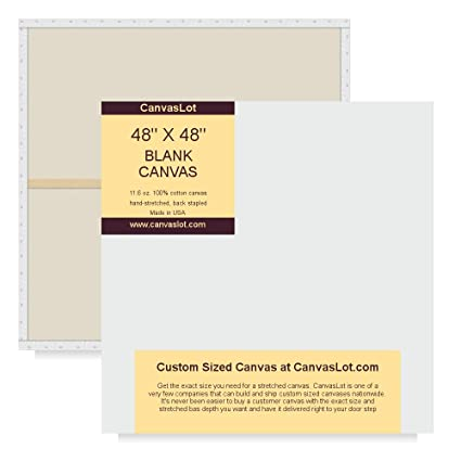 amazon com canvaslot large stretched blank canvases 48 x 48 square