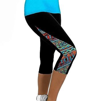 estilo de moda de 2019 100% Calidad nuevo concepto Leggings Deportivos Mujer Cortos, ❤️ Amlaiworld Mallas Mujer Leggins  Leggings de Running Polainas de Fitness de Yoga Floral para Mujeres  Pantalón 3/4 ...
