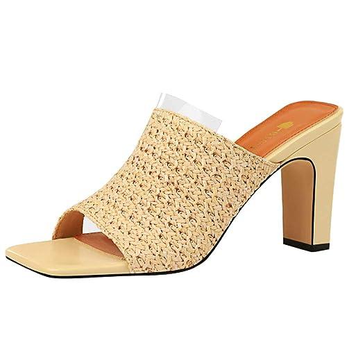 e9cfac680 Zanpa Femmes Mode Chaussures d'été Peep Toe Tisser Mules Sandals ...