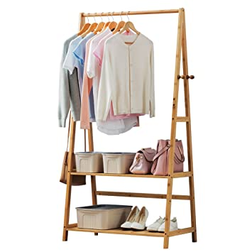 Perchero de madera para armario, perchero para colgar ropa ...