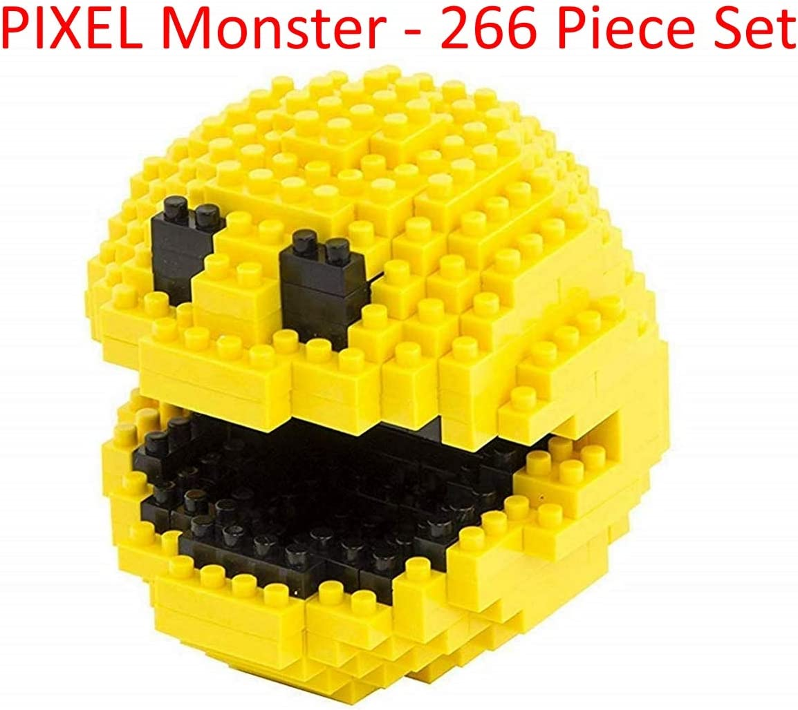 Brick Loot Pixel Monster - 266 Piece Nano-Size Nanoblock Bricks - Brick Block Building Set (Brought to You
