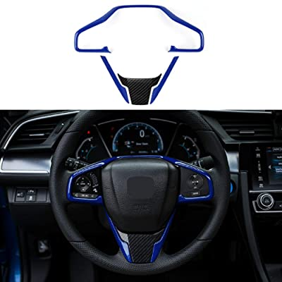 Thenice for 10th Gen Civic ABS Plastic Steering Wheel Trims Interior Decaration Sticker for Honda Civic 2020 2020 2020 2020 2016 -Blue: Automotive
