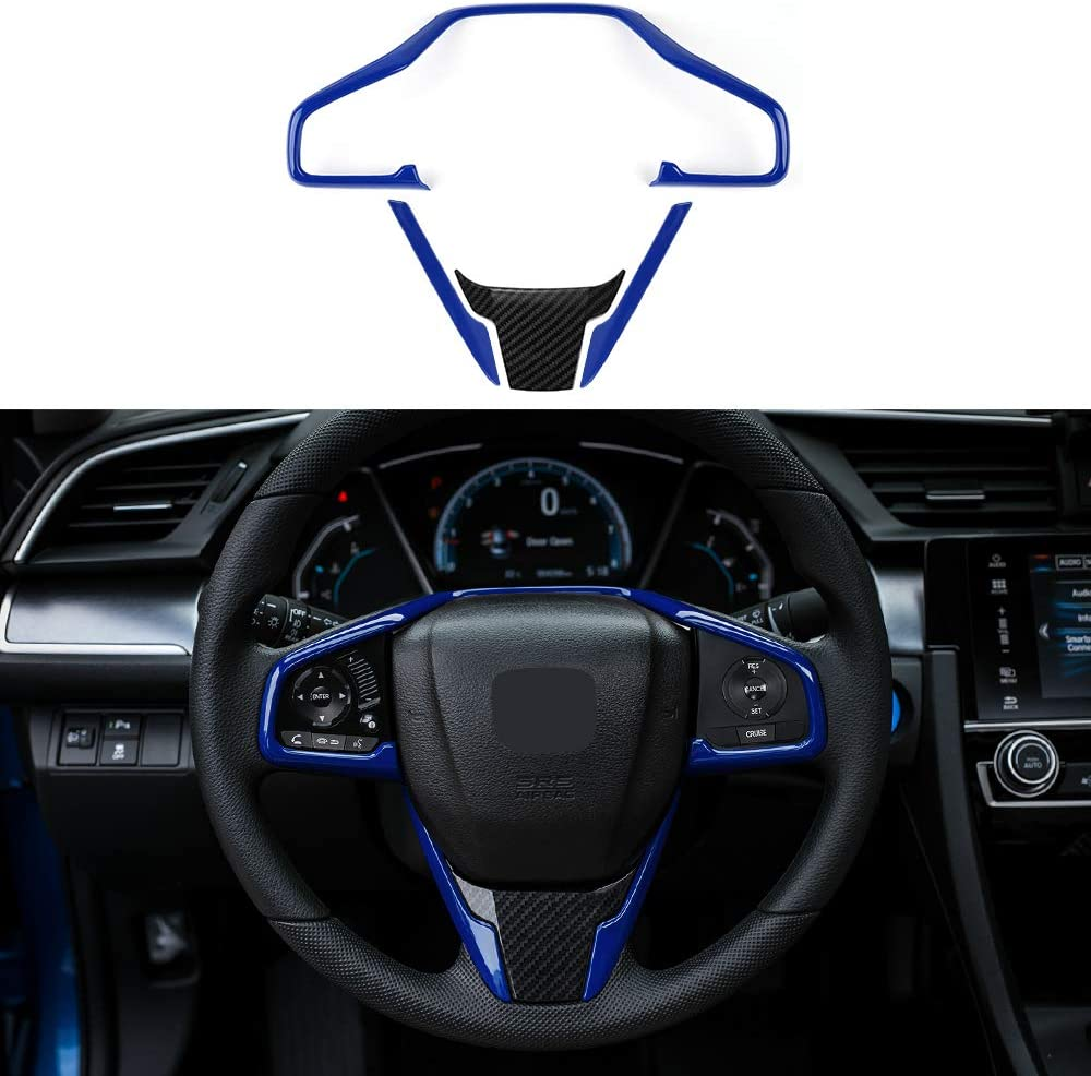 amazon com thenice for 10th gen civic abs plastic steering wheel trims interior decaration sticker for honda civic 2020 2019 2018 2017 2016 blue automotive thenice for 10th gen civic abs plastic steering wheel trims interior decaration sticker for honda civic 2020 2019 2018 2017 2016 blue