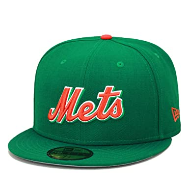 e39149af New Era 59fifty New York Mets Fitted Hat Cap Kelly Green/Orange