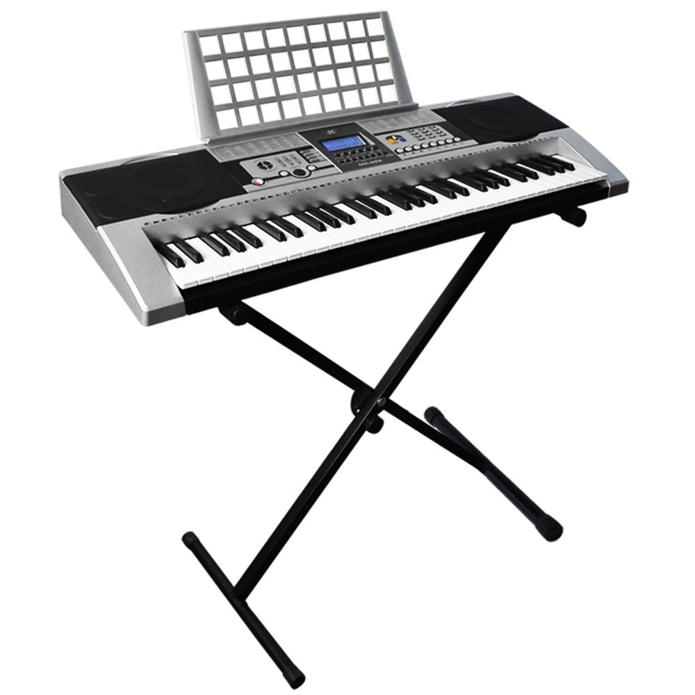 Best Choice Products 61 Key Electronic Music Keyboard Electronic Piano with X Stand LCD Display Screen SKY1036