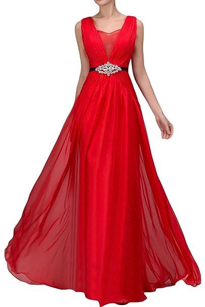 sunvary elegante a-line sin mangas fiesta vestidos novia de invitados para boda vestido Rojo