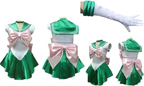 Sailor Moon Sailormoon corto jupiter Lita Cosplay disfraz + ...