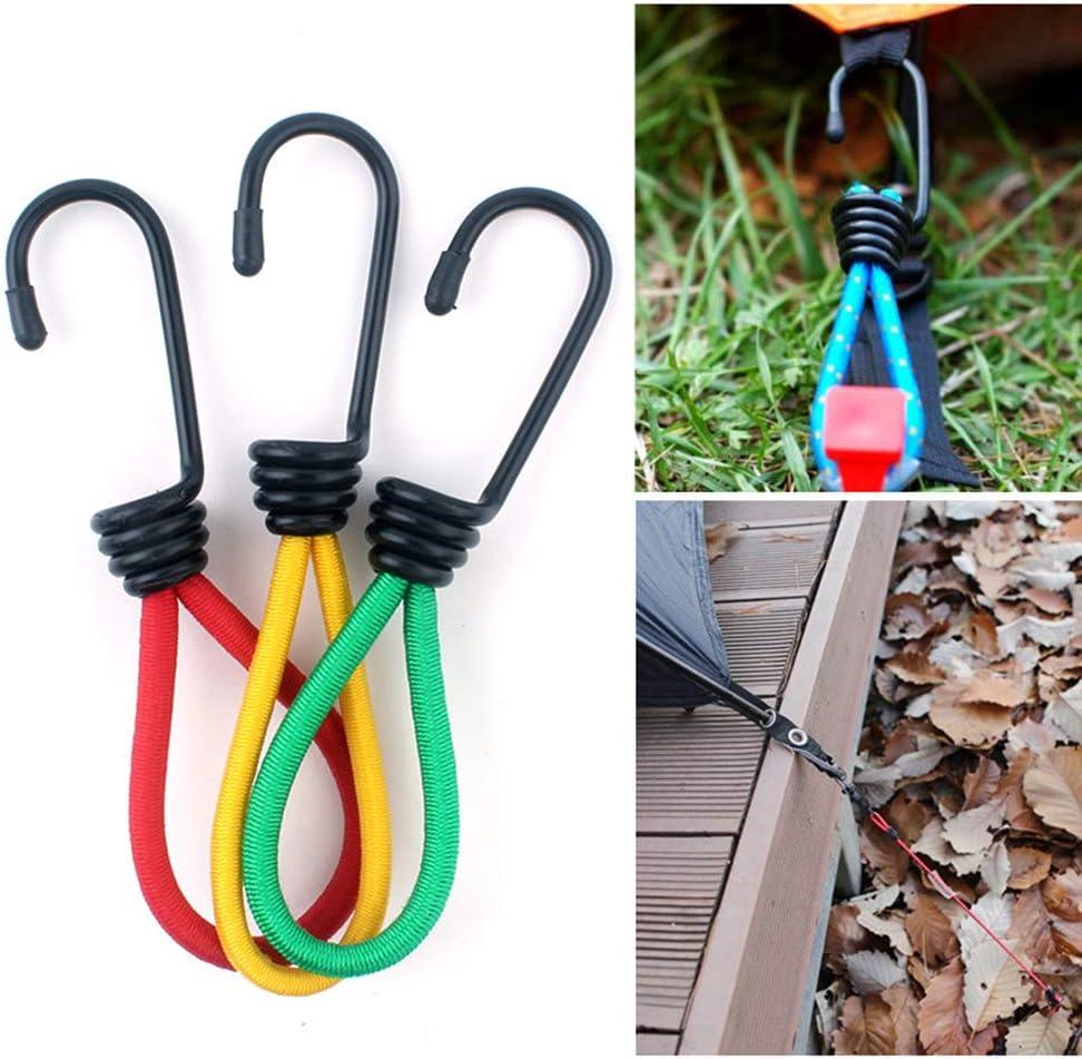 LIOOBO 3 Piezas de Cuerda elástica Hebilla Tienda de campaña Ganchos Accesorios de Camping Hebilla para Acampar al Aire Libre Imagen