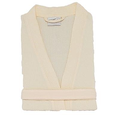 8f3708d879 Amazon.com  Thigh Length Waffle Weave Kimono Robes