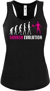 Squash Evolution Sport Frauen Damen Fun Tank Top Funshirt Tanktop Sportbekleidung Fanartikel Shop shirt tshirt