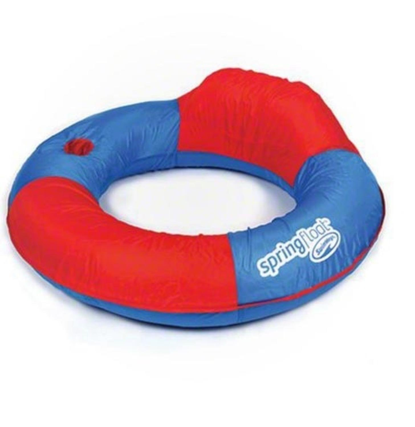 Swimway 36'' Red and Blue Swimming Pool Inflatable Sun Tube Lounger Spring Float with Cup Holder by Swimway (Image #2)