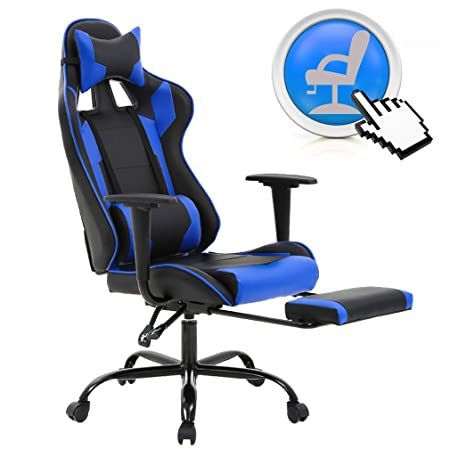 BestMassage Executive Recliner Gaming Chair, Racing Style High-Back Office Chair with Footrest Lumbar Support and Headrest est