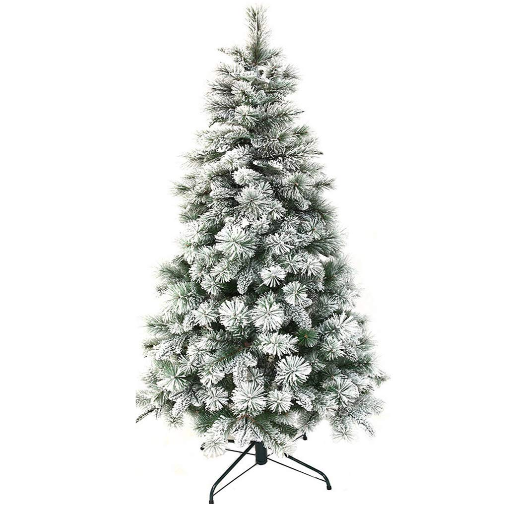 XF Christmas Tree-1.5m 1.8m 2.1m National Tree Christmas Day Decorations Ornaments Hinged White // (Size : 2.1m)