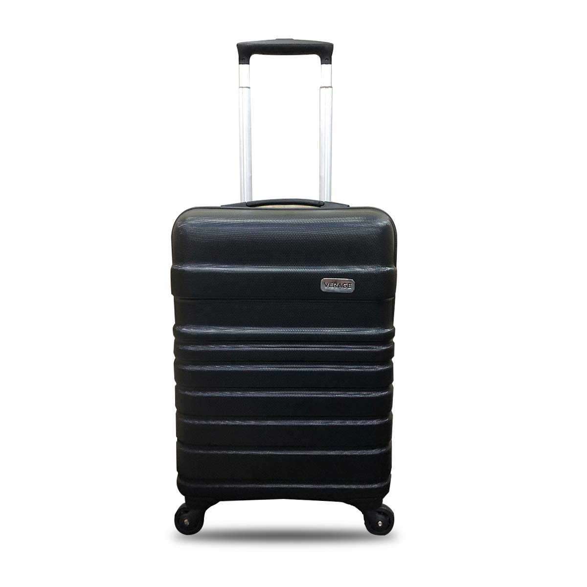Verage Tokyo 56 cms Black Cabin/Carry-on Trolley 4 Wheels Hard Suitcase Spinner Luggage