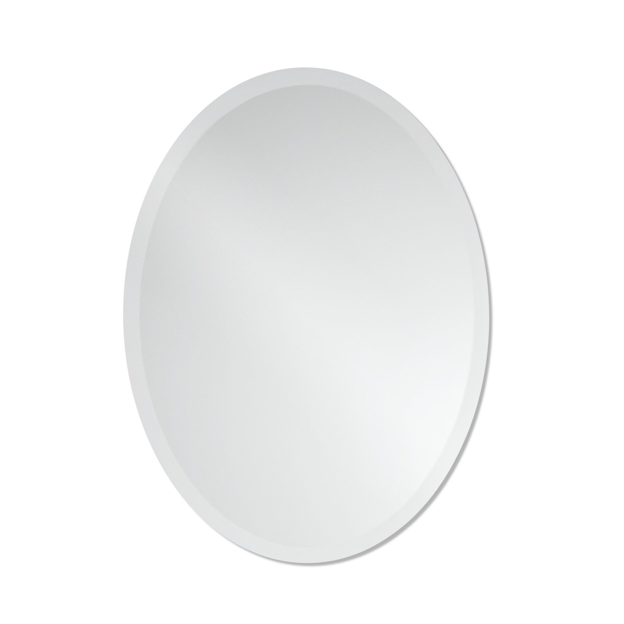 Small frameless beveled oval wall mirror bathroom - Frameless beveled mirrors for bathroom ...