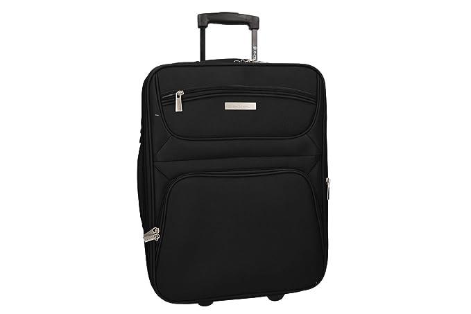 INTARSI Maleta semirrígida negro mini equipaje de mano ryanair VS267