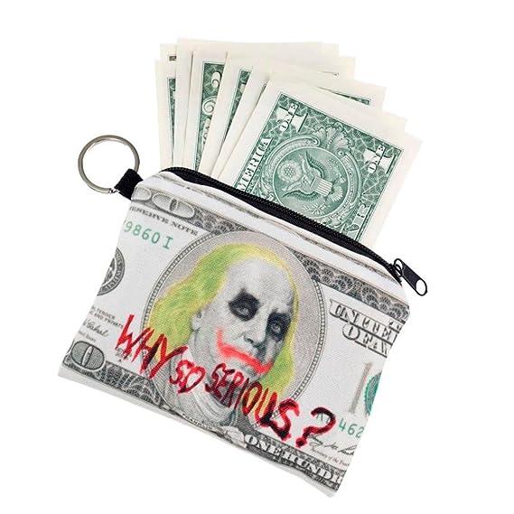 subfa Mily Chica Imprimir monedas Cambiar Cartera embrague cremallera Zero Wallet teléfono Llave bolsillos monedero tarjeta de crédito funda de dinero ...