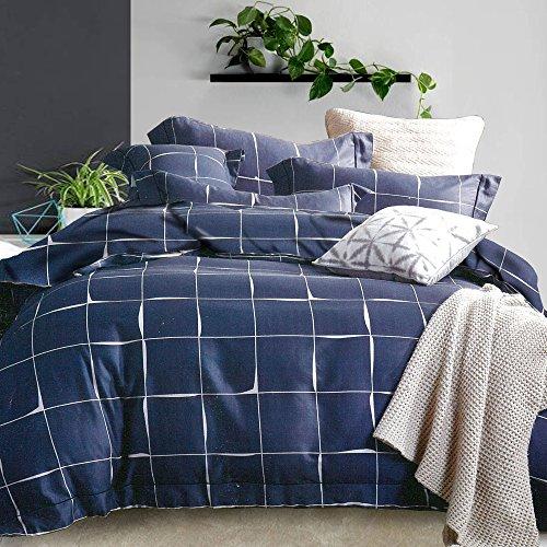 Essina King Duvet Cover Set 3pc Rosetta Collection, 100% Cotton 620 thread count, Pillow Sham, - Oaklys