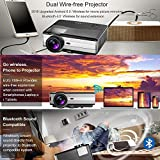 EUG Home Theater Projector Android Wireless 1280x800 Wxga LCD Video Projector with WiFi HDMI Connectivity 3500 Lumens Multimedia LED Gaming Projectors for iPhone iPad Smartphone DVD TV Stick