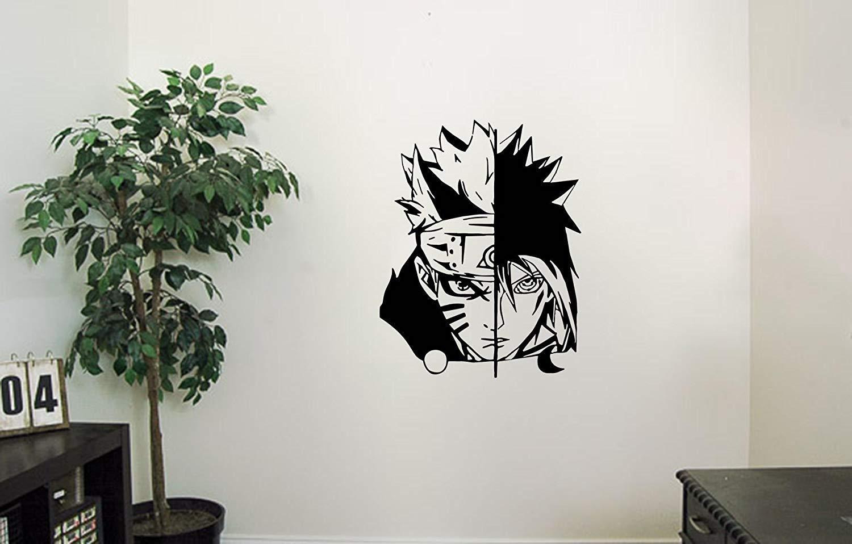 Uzumaki naruto and uchiha sasuke vinyl wall decals shinobi in the mode of the sage six paths anime naruto shippuden japan manga comics decal sticker vinyl