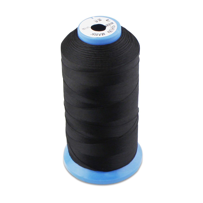 allbusky Bonded Nylon hilo de coser resistente para máquina de coser costura a mano tapicería al aire libre mercado Drapery Beading equipaje Bolsos negro: ...