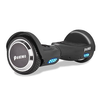 Hoverboard con Luces LED y Bolsa - Patinete Eléctrico Scooter con Certificación UL, Auto-Equilibrio Patín de Dos Ruedas para Niños/Adulto/Adolescentes ...