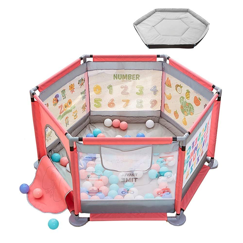 古典 ベビーフェンス Playpen 200 Hexagonピンク、ポータブルプレイヤードテントインドア Ball、子供の安全活動センター (色 Ball) : With 200 Ball) With 200 Ball B07KNGZ6GB, FIL buyandsell:73b6ee53 --- a0267596.xsph.ru