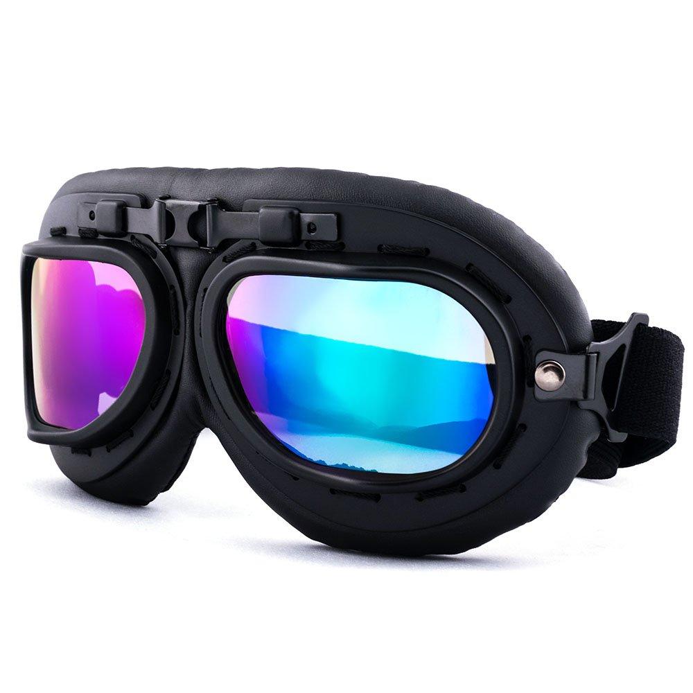 nawenson Newest marco negro retro vintage Aviator Pilot moto motocicleta ciclismo gafas gafas