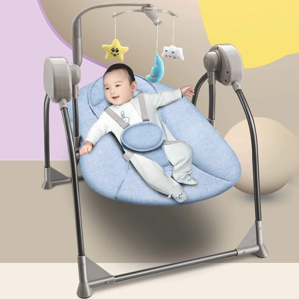 Automatic Baby Kids Rocker Soft Chair Musical Swing Rocking Toy Folding I haji