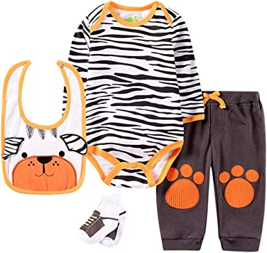 Newborn Infant Long Sleeve Mickey Romper Outfit Baby Hat Top Pant Jumpsuit Sets