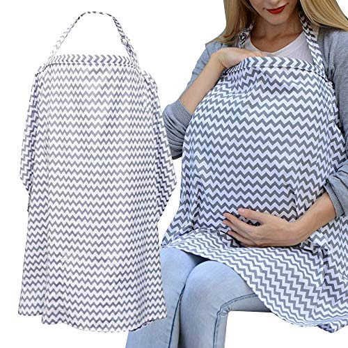 Super Soft Infinity Nursing and Breastfeeding Scarf Dark Grey Baby Carrier Gifts Nursing Scarf for Mothers Convenient Breastfeeding Cover UxradG Care Nursing Cover