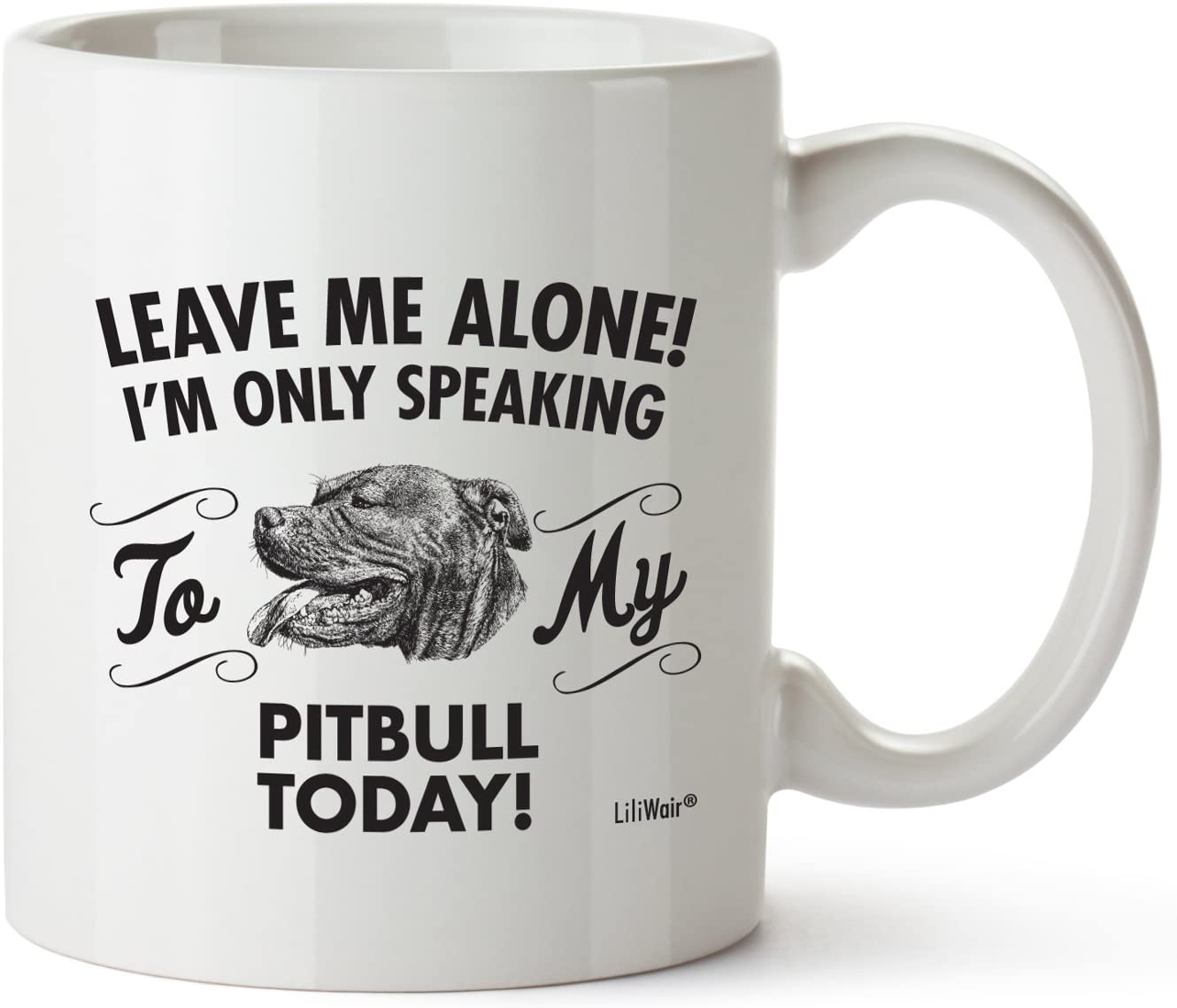 Pitbull Mom Gifts Mug For Christmas Women Men Dad Decor Lover Decorations Stuff I Love Pitbull Coffee Accessories Talking Art Apparel Funny Birthday Gift Home Supplies Products Dog Coffee Cup Mugs