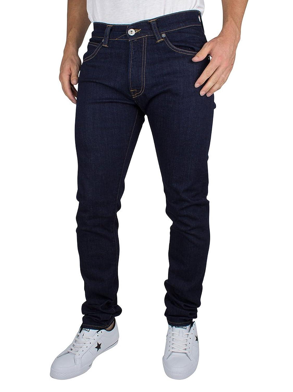 Edwin Herren ED-85 Schlanke Konische mit tiefem Schritt Jeans, Blau