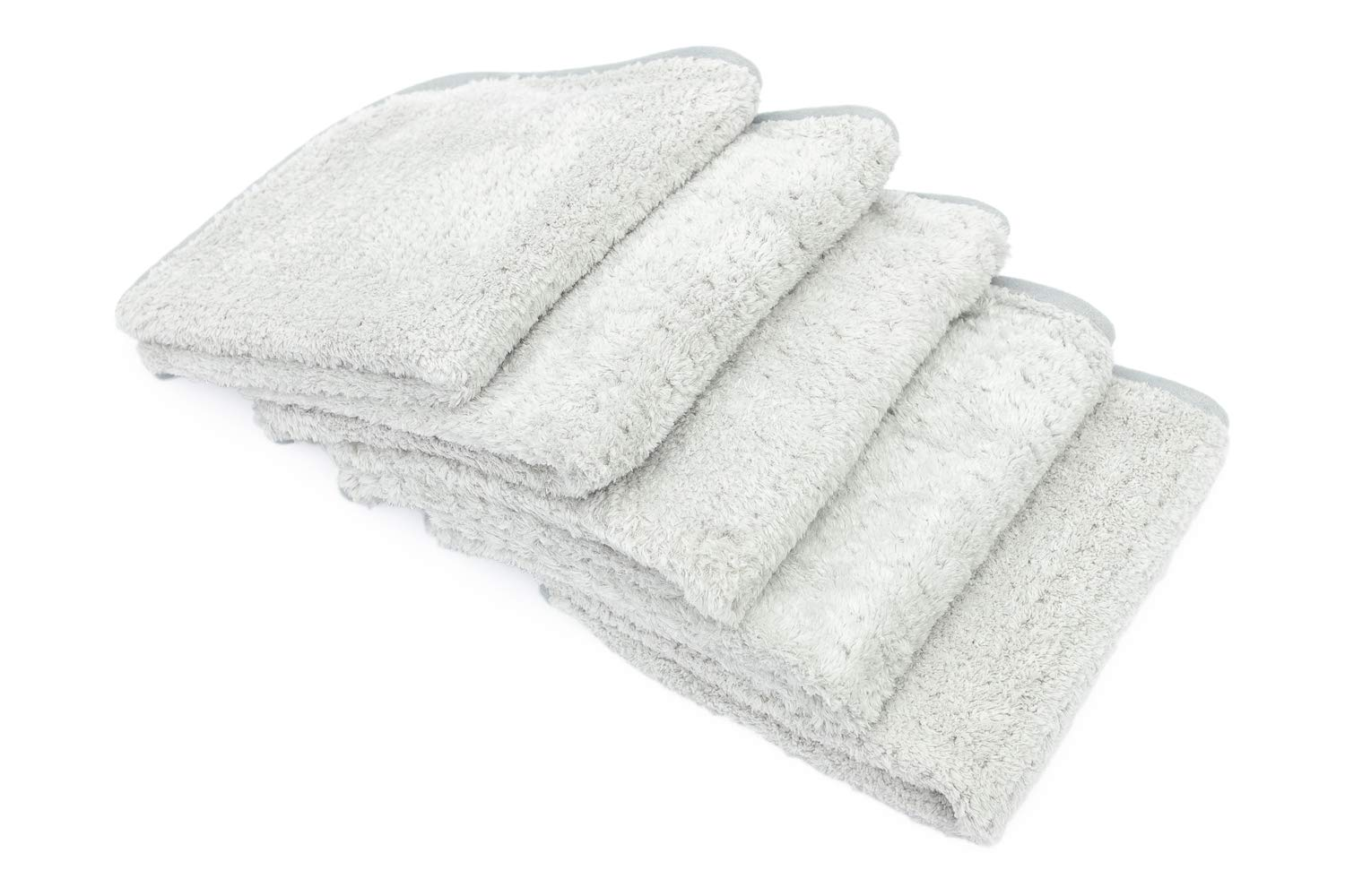 THE RAG COMPANY (5-Pack 16 in. x 16 in. Platinum PLUFFLE Professional Korean 70/30 490gsm Plush Waffle Microfiber Detailing Towels