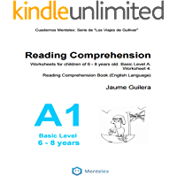 Reading Comprehension Worksheets for children of 6 - 8 years old. Basic Level A. Worksheet 1.: Reading Comprehension Book (English Language) (Cuadernos de comprensión lectora. Nivel Básico A)