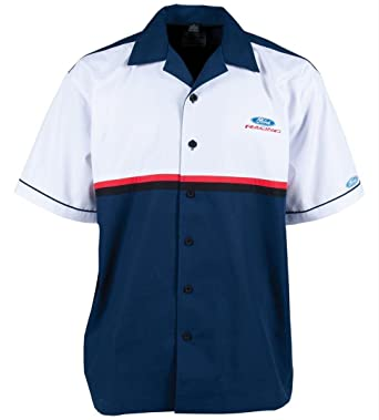 Ford Racing Apparel >> Ford Racing Car Pit Crew Shirt By David Carey At Amazon Men S