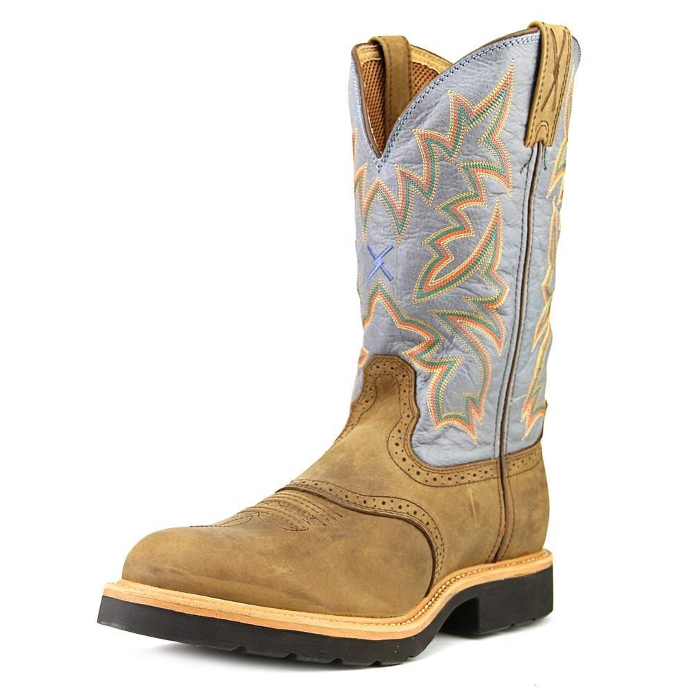 mcw0002 Twisted XメンズカウボーイSR Work Boots – サドル/デニム B00AS0B6QE 10 Distressed Saddle/Denim Leather Distressed Saddle/Denim Leather 10