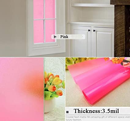 Amazon.com: HOHO Colorful Frosted Window Film Privacy Matte Pink ...