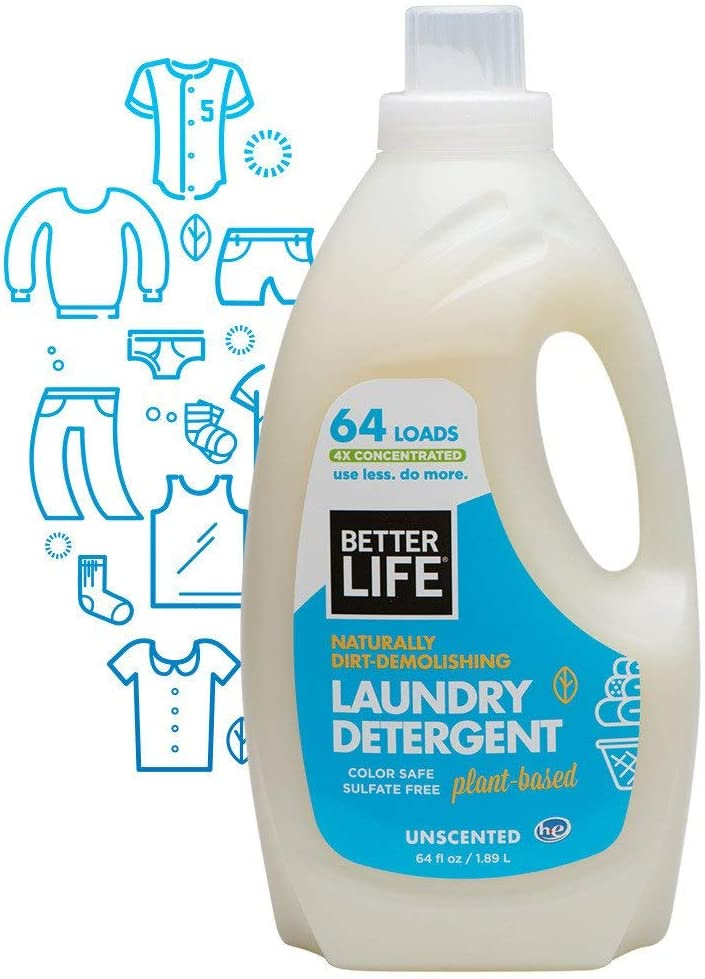 Better Life Laundry Detergent, Unscented, 64 Oz (Packaging May Vary)