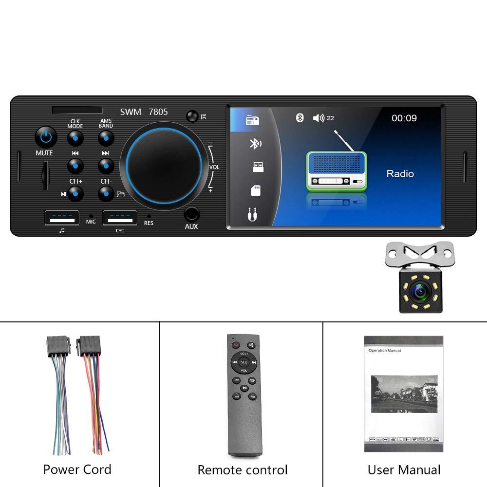 Car Audio Backup Camera & Remote Control Camecho Single Din Car ...