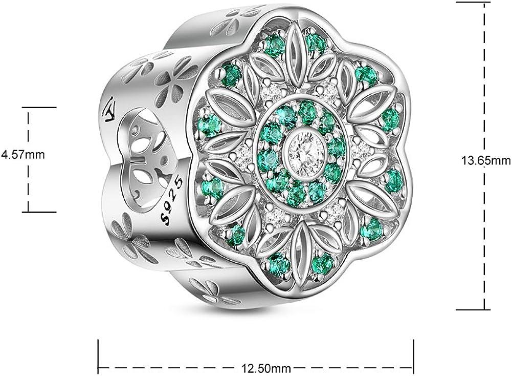 925 Argent Sterling 4 Petit Fleur Charms 10 mm