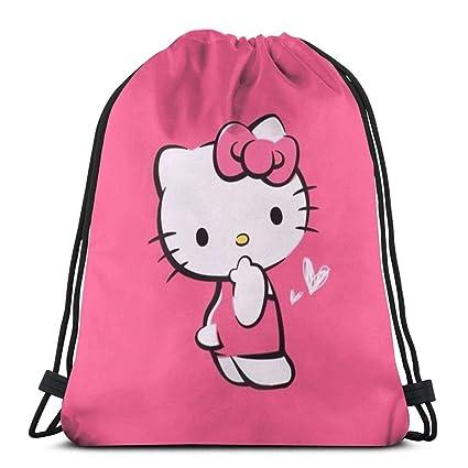 766cf4cf8 Amazon.com: MPJTJGWZ Classic Drawstring Bag-Love Hello Kitty Gym Backpack  Shoulder Bags Sport Storage Bag for Man Women: Home & Kitchen