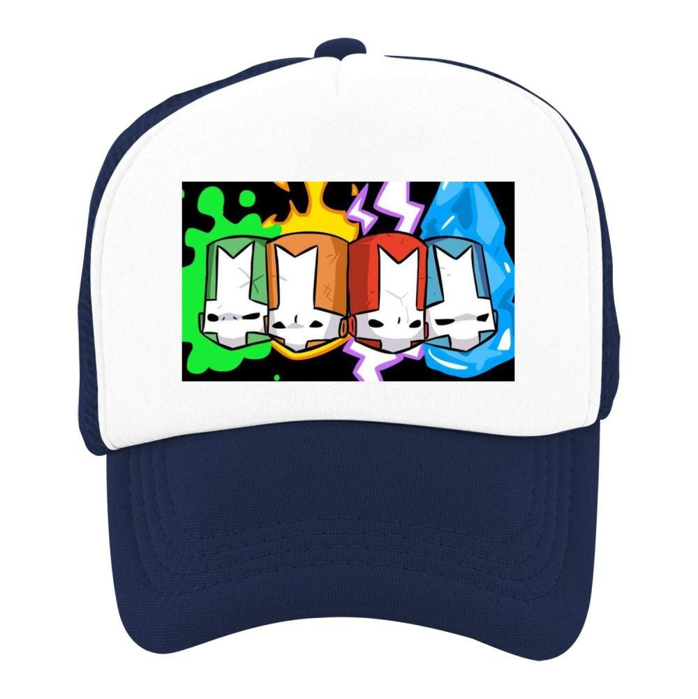 Kids Girls Boys Mesh Cap Trucker Hats Castle Crashers Adjustable Hat Navy