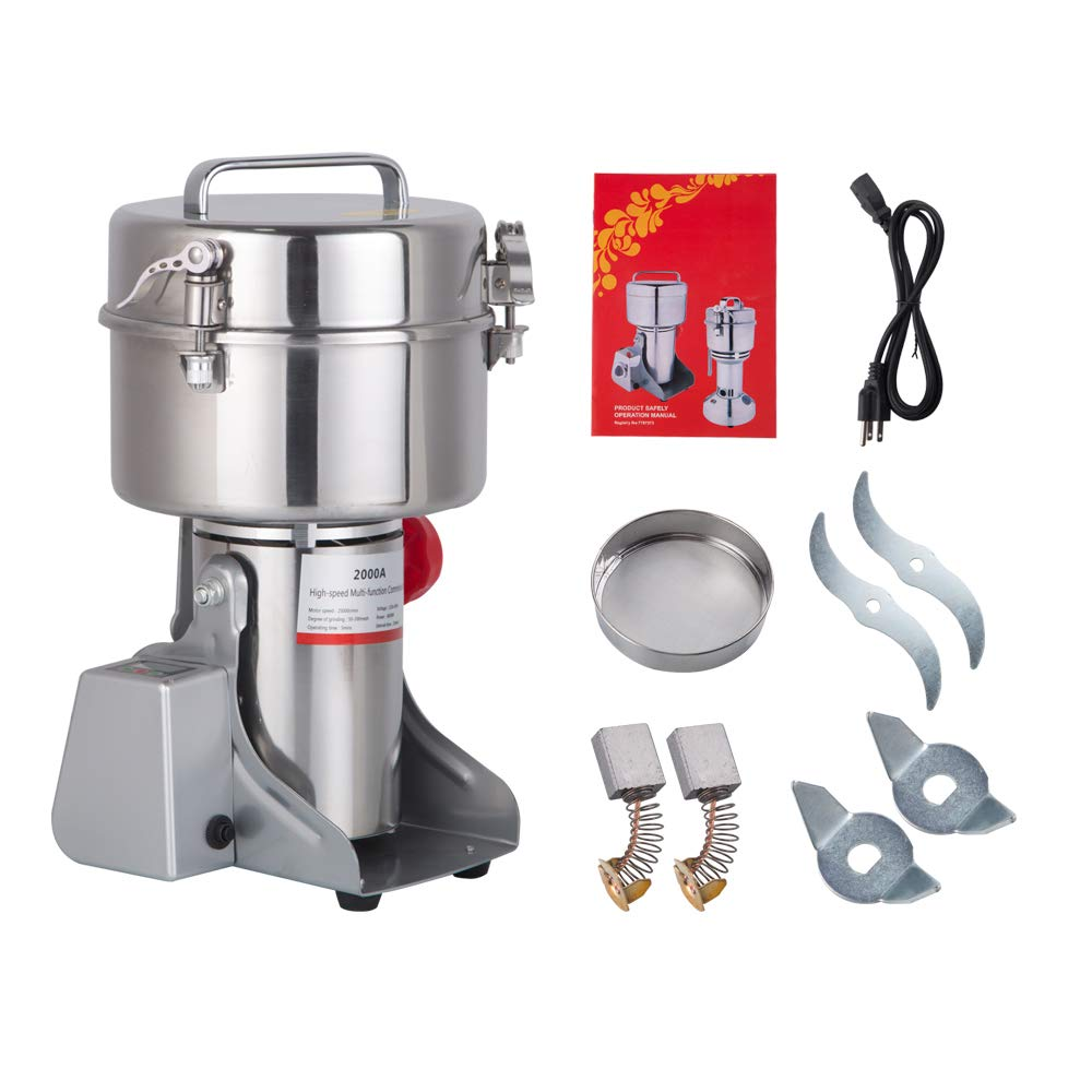 ... LED Didital Display Stainless Steel Electric Mill Ultra-fine Powder Grinding Machine 32000 r/min CE Approved for Kitchen Herb Spice Pepper Coffee Powder ...
