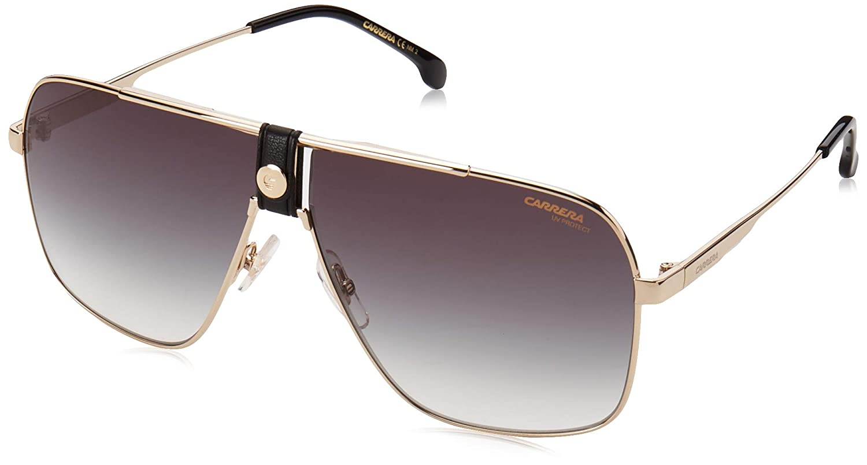 Carrera Carrera 1018//S 2M2 Gold Metal Aviator Sunglasses Green Gradient Lens