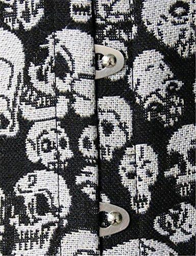 Damen Drucken Schädel Korsett Unterbrust Schnüren Bustier Halloween Clubwear