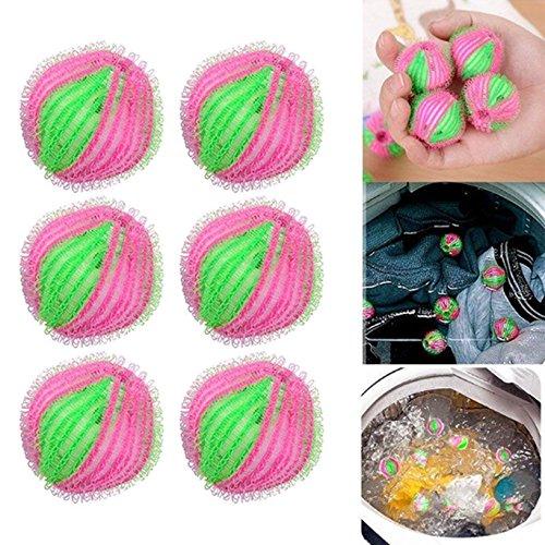 Toyofmine Hair Fluff Removal Laundry Washing Wash Ball Lint Grabbing Ball Nylon 6PCS
