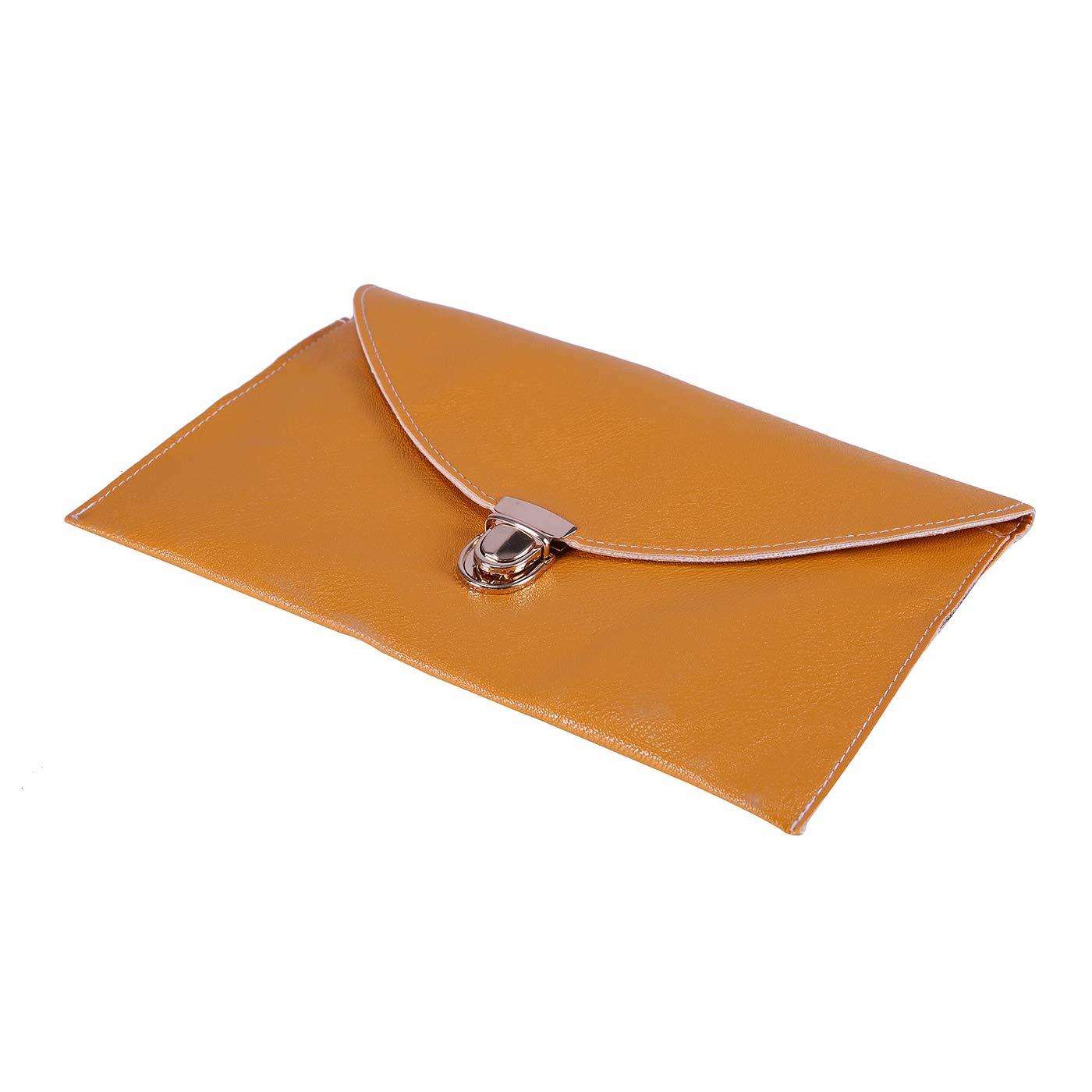 HDE Women's Fashion Cross Body Gold Buckle Purse Vegan Leather Envelope Handbag by HDE (Image #4)