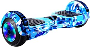 Self Balancing Scooter Two-Wheel Self Balancing Hoverboard with Bluetooth Speaker and LED Lights Electric Scooter for Adult Kids Christmas Amazon Membership Day