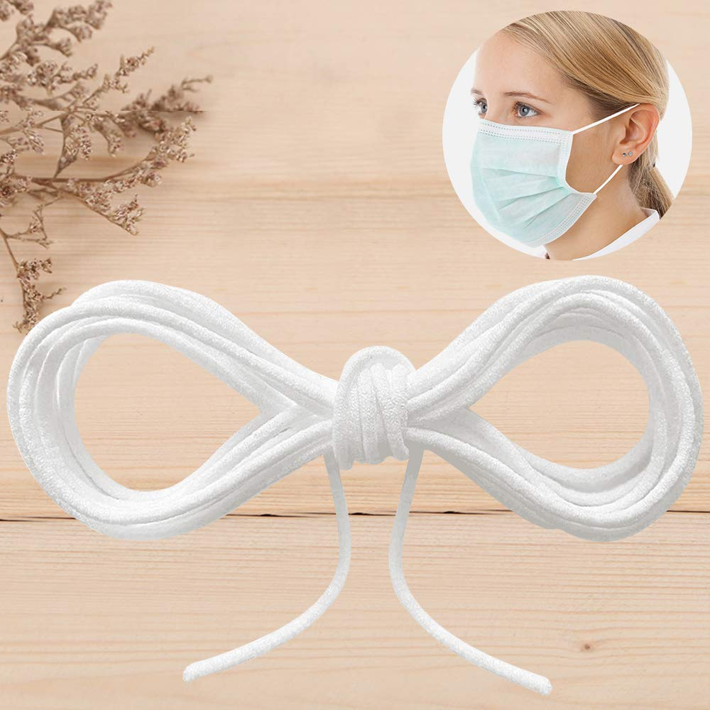 33 Yards Length 1//5 Inch Width Braided Elastic Band String Cord Heavy Stretch White High Elasticity for Sewing Craft DIY Cloth Shoelace Scarf